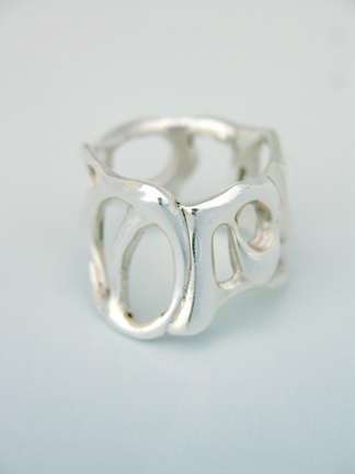 Cabaret Sterling Silver Cocktail Ring. Size 6
