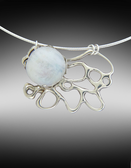 Moonlight Cocktail Necklace with Moonstone