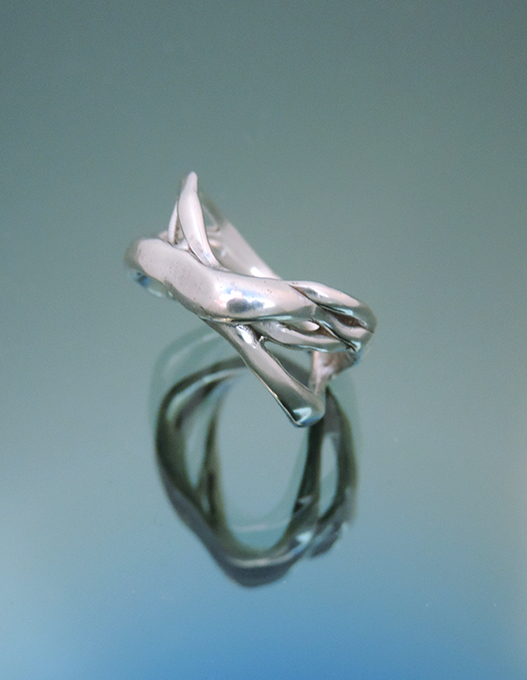 Casa Blanca Sterling Silver Cocktail Ring. Size 7.5