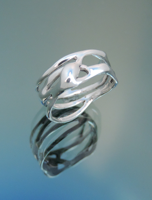 La Roma Sterling Silver Cocktail Ring. Size 8