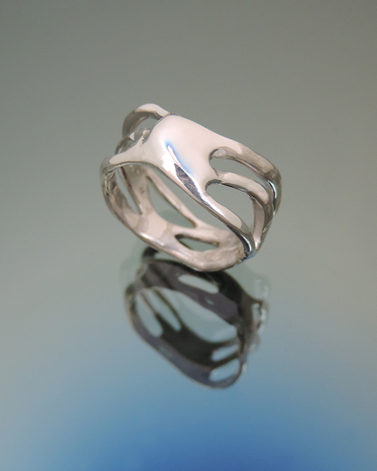 Hurricane Sterling Silver Cocktail Ring. Size 8.5