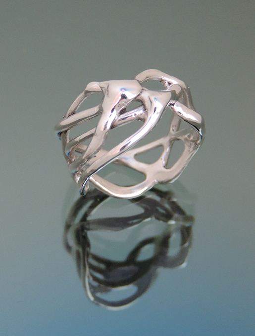 Xantha Sterling Silver Cocktail Ring. Size 8