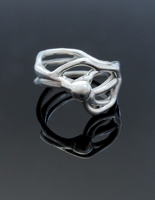 Saint Moritz Sterling Silver Cocktail Ring. Size 9
