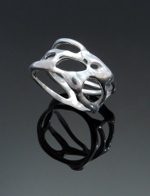 Bessemer Sterling Silver Cocktail Ring. Size 8