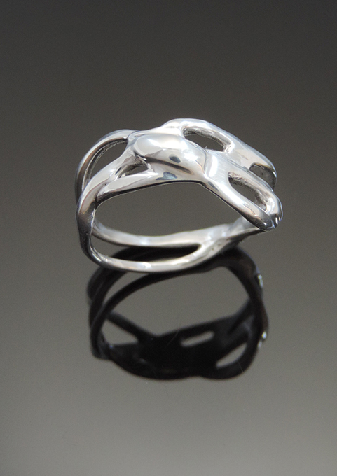 The Bone Cocktail: Sterling Silver Ring. Size 8.5-9
