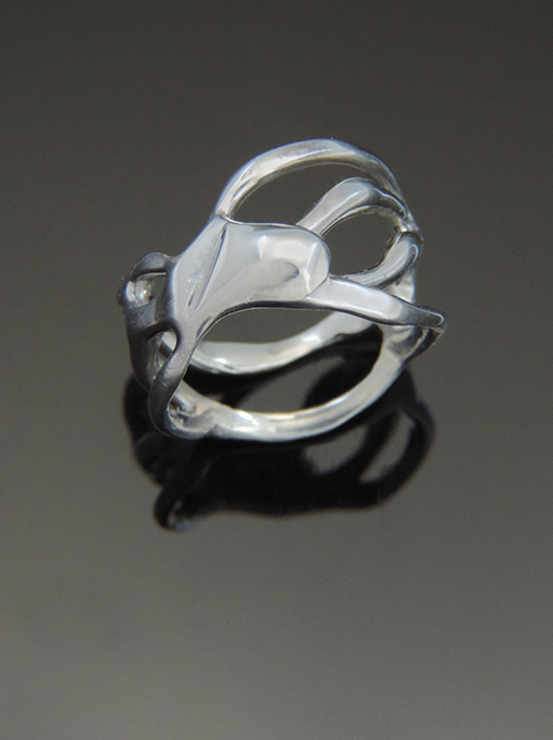 Ideal OOAK Sterling Silver Cocktail Ring. Size 7.5