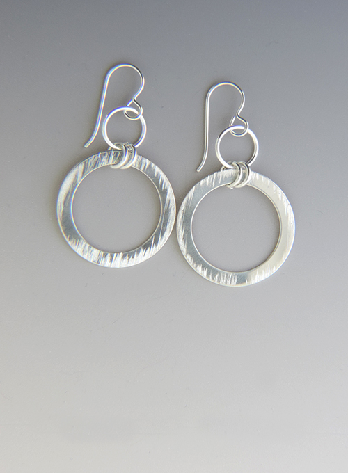 Cable Car Sterling Hoop Cocktail Earrings