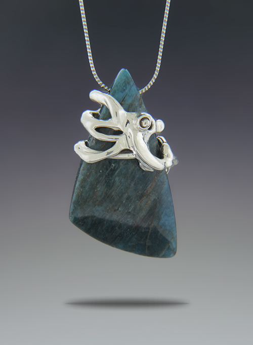 Grappa Strega Sterling Silver & Apatite Necklace