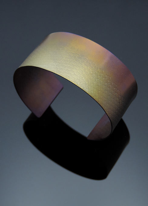 Honey Lemonade Anodized Titanium Cuff