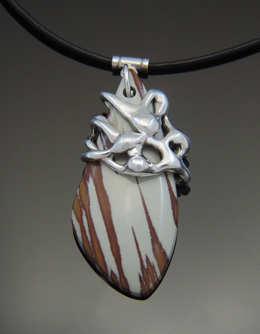 Morgan's Mountain Recycled Silver Necklace with Owyhee Jasper