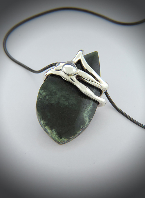 Bookmaker's Luck, Wyoming Jade & Sterling Silver Necklace
